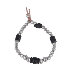 Bracciale Pallini Inserti In Black Vintage I Love You - Donna