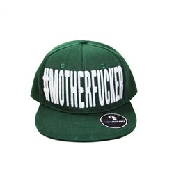 Cappello #MotherFucker - Verde