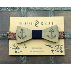 Wood & Beau  EL CAPTAIN Papillon in legno inciso a laser