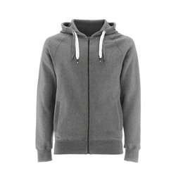 Continental Clothing Felpa Unisex Zip-Up Hoody Melange Grey