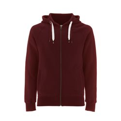 Continental Clothing Felpa Unisex Zip-Up Hoody Claret Red
