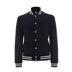 Continental Clothing Felpa Varsity Jacket Navyy/White Stripes