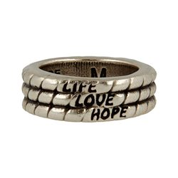 Anello Life-Love-Hope - taglia L